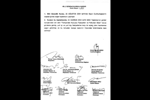 The document with Erdogan's signature, source: daily Taraf
