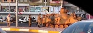 Army in the streets of Diyarbakir, 9 October 2014